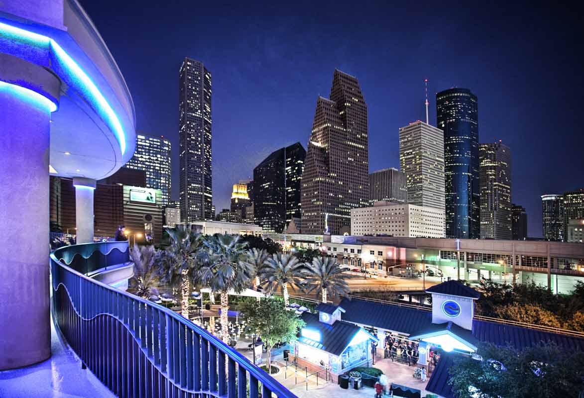 Houston Commercial Photographer Houston cityscape at night
